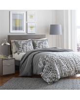 Branches Duvet Cover Set Twin Gray - City Scene, Grey