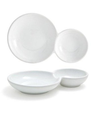 """Front Of The House Harmony Bento Duo 6.5"""" Bread and Butter Plate (Set of 5) DBO122WHP23"""
