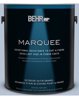 BEHR MARQUEE 1 gal. #590E-3 Hyacinth Tint Satin Enamel Exterior Paint and Primer in One