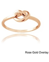 Mondevio Silver Polished Love Knot Ring (8 - Fashion - N/A - Gold Plate)
