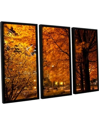 New Deal On Latitude Run Chicago Fall 2 3 Piece Framed Photographic Print Canvas Fabric In Brown Size 24 H X 36 W X 2 D Wayfair Ltrn7054 30807382