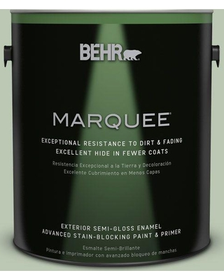 BEHR MARQUEE 1 gal. #MQ6-45 Composed Semi-Gloss Enamel Exterior Paint and Primer in One