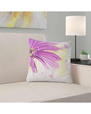 "East Urban Home Floral Lovely Flower Watercolor Pillow FUSI4158 Size: 18"" x 18"" Product Type: Throw Pillow"