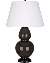"""Robert Abbey 31"""" Coffee Ceramic and Bronze Table Lamp"""