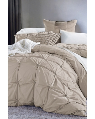 MELANGE HOME Full/Queen Epoque Embroidered Duvet 3-Piece Set - White in Taupe at Nordstrom Rack
