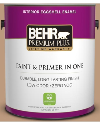 BEHR Premium Plus 1 gal. #MQ2-3 Key to the City Eggshell Enamel Low Odor Interior Paint and Primer in One