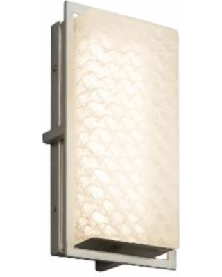 Justice Design Group Fusion 12 Inch LED Wall Sconce - FSN-7562W-WEVE-NCKL