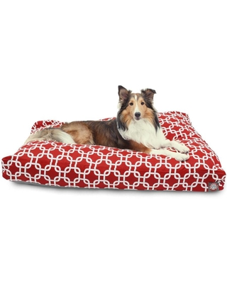 Majestic Pet Products Red Polyester Rectangular Dog Bed (For Large)   788995502296