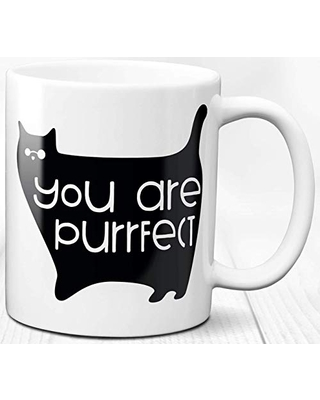 Red Cat With Face Mask White Coffee Mug 11oz Cat Lovers Gift