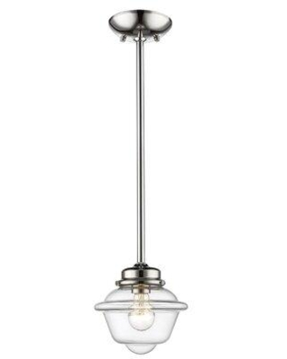 Breakwater Bay Maeve 1 - Light Single Schoolhouse Pendant CLXU8423 Finish: Polished Nickel