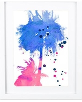 """SafiyaJamila Caribbean Cotton Candy Watercolor Framed Painting Print Caribbean Cotton Candy_FrameW2 W4 Size: 20"""" H x 16"""" W x 1"""" D"""
