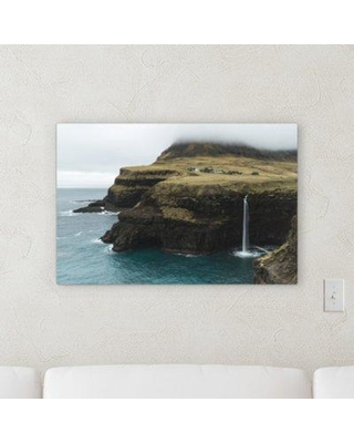 "Ebern Designs 'Mountain and Cliffs (94)' Photographic Print on Canvas BF106146 Size: 8"" H x 8"" W x 2"" D"