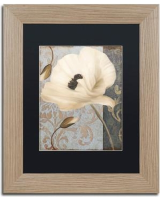 """Trademark Fine Art 'Poppy Brocade II' by Color Bakery Framed Graphic Art ALI4093-T1 Size: 14"""" H x 11"""" W x 0.5"""" D Mat Color: Black"""