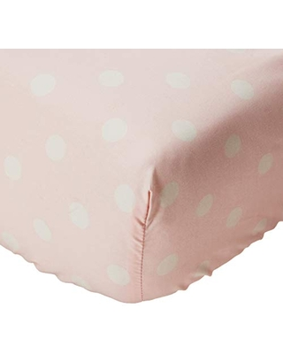 Glenna Jean Victoria Fitted Sheet, Pink Dot