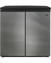 IGLOO FR551 5.5 Cubic Feet Side by Side 2 Door Refrigerator Freezer, Stainless Steel