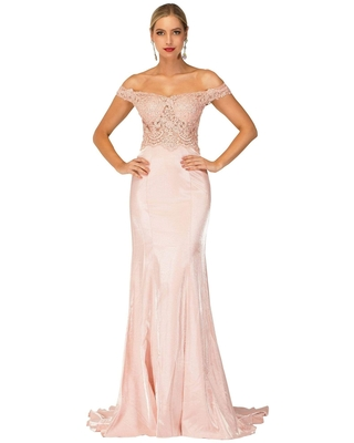 Cecilia Couture - 2142 Off-Shoulder Laced Long Dress