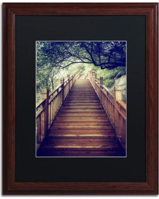 "Trademark Art ""Staircase"" by Philippe Hugonnard Framed Photographic Print PH0360-W1 Size: 20"" H x 16"" W x 0.5"" D Matte Color: Black"