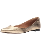 Opportunity Shoes - Corso Como Women's Julia Ballet Flat, Gold Cracked Leather, 5.5 Medium US