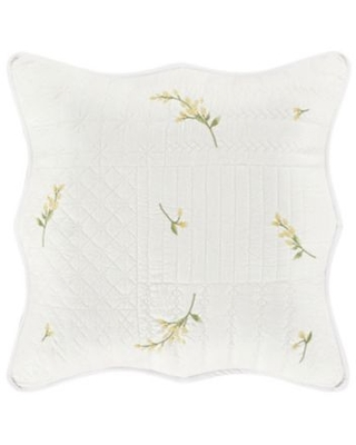 Piper & Wright Sandra Square Throw Pillow in White