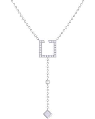 LMJ - Street Light Lariat Necklace In Sterling Silver