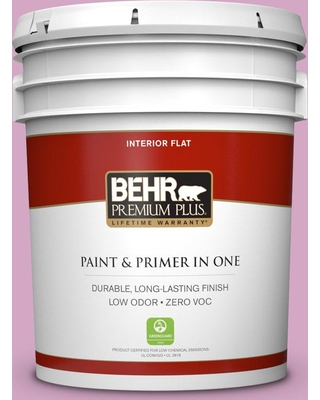 BEHR Premium Plus 5 gal. #M120-4 Heart to Heart Flat Low Odor Interior Paint and Primer in One