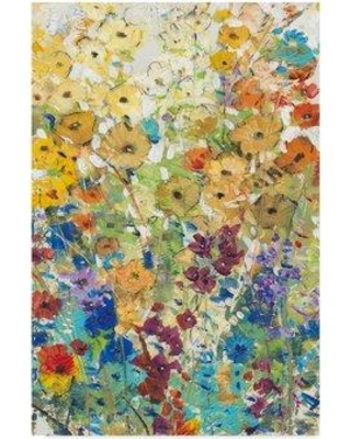 "East Urban Home 'Meadow Floral I' Acrylic Painting Print on Wrapped Canvas W000961919 Size: 47"" H x 30"" W x 2"" D"