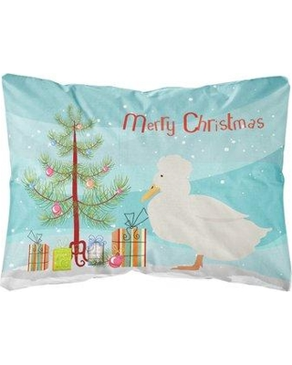 The Holiday Aisle Molimo Crested Duck Christmas Indoor/Outdoor Throw Pillow BI148719