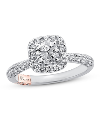 Jared The Galleria Of Jewelry Pnina Tornai Say You Love Me Diamond Engagement Ring 1-3/8 ct tw Round 14K Two-Tone Gold
