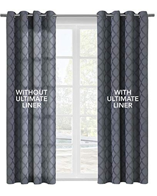 """Thermalogic Ultimate Thermal Energy Saving Blackout Window Curtain Liner, 45"""" X 77"""", White"""