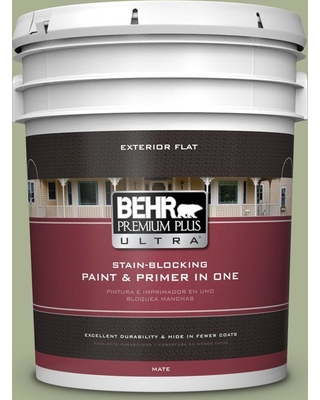 BEHR ULTRA 5 gal. #PPU10-06 Spring Walk Flat Exterior Paint and Primer in One