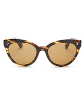 Oliver Peoples Women's Roella Polarized Cat Eye Sunglasses, 55mm
