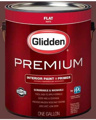 #HDGR52D Old Mahogany Flat Interior Paint With Primer