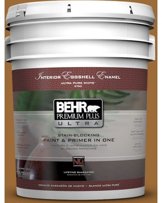 BEHR ULTRA 5 gal. #PPU6-01 Curry Powder Eggshell Enamel Interior Paint and Primer in One