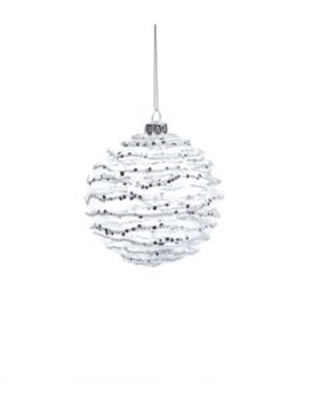 Spectacular Sales For White And Silver Wave Christmas Ball Ornaments Set Of 6 4