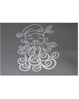 The Holiday Aisle Santa Baby Decorative Holiday Print Gray Indoor/Outdoor Area Rug HLDY5892 Rug Size: Rectangle 3' x 5'