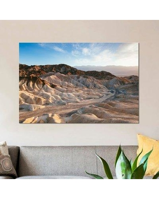 """East Urban Home 'Zabriskie Point at Sunset Death Valley National Park California USA' Photographic Print on Wrapped Canvas ESRB9302 Size: 12"""" H x 18"""" W x 1.5"""" D"""