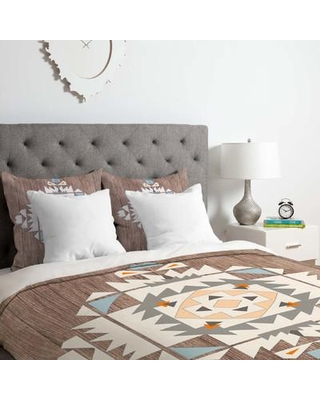 East Urban Home Cream Tribal Duvet Cover Set EUNH5676 Size: King