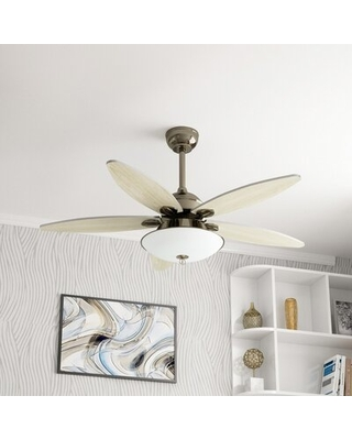 """52"""" Jilli 4 - Blade LED Standard Ceiling Fan with Remote Control and Light Kit Included"""