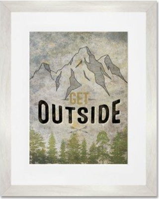 Cyber Monday Savings: GreenBox Art \'Get Outside\' Framed Painting ...