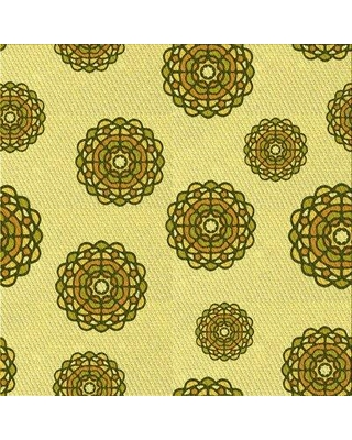 East Urban Home Floral Wool Yellow Area Rug W002559767 Rug Size: Square 4'