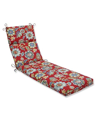 """Pillow Perfect 601717 Outdoor/Indoor Daelyn Cherry Chaise Lounge Cushion, 72.5"""" x 21"""", Red"""