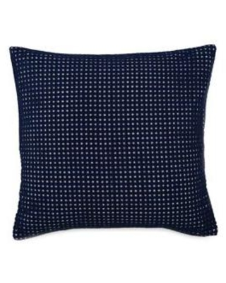 Southern Tide Navy Bayside 16 Inch Square Navy Eyelet Decorative Pillow