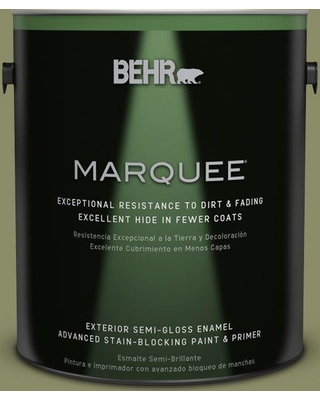 BEHR MARQUEE 1 gal. #S360-5 Yogi Semi-Gloss Enamel Exterior Paint and Primer in One