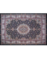 Astoria Grand Pease Hand Look Persian Wool Pink/Blue Area Rug W000547356