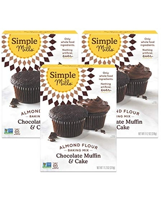 Spectacular Deals on Simple Mills Almond Flour Baking Mix, Gluten Free  Chocolate Cake Mix, Muffin pan ready, Made with whole foods, 3 Count  (Packaging May Vary)