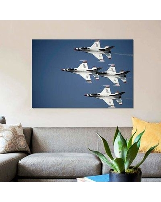 """East Urban Home 'The US Air Force Thunderbird Demonstration Team' Photographic Print on Canvas EBHR3954 Size: 18"""" H x 26"""" W x 0.75"""" D"""