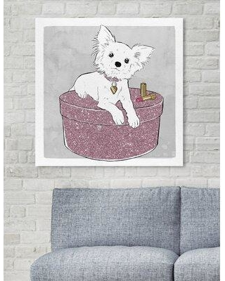 "Art Remedy Dogs and Puppies 'Chihuahua and Glam' Graphic Art Print on Wrapped Canvas 25841_XHD Size: 24"" H x 24"" W x 1.5"" D"