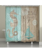 Rosecliff Heights Hannover Beach Boardwalk Shower Curtain ROHE3011