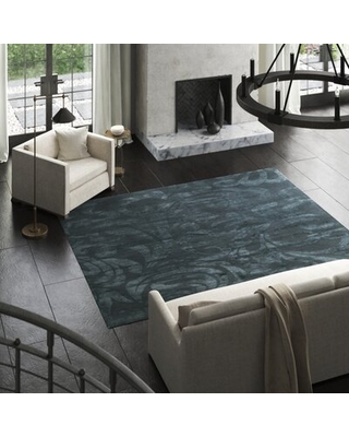 Amazing Deals On Floral Hand Knotted Dark Blue Area Rug Tufenkian Rug Size Rectangle 8 X 10