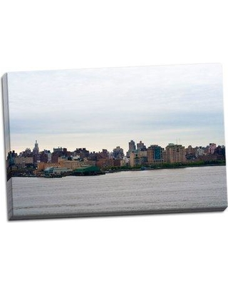 Ebern Designs 'NYC and Hudson River I' Photographic Print on Wrapped Canvas BF046402